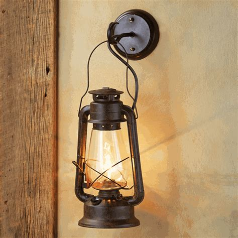 Cowboy Bedroom Decor large rustic lantern wall sconce