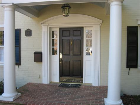 front door exterior trim decoration ideas awesome curved pediment front