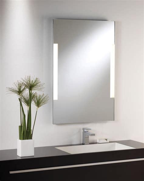 bathroom mirror side lights shallow profile illuminated mirror
