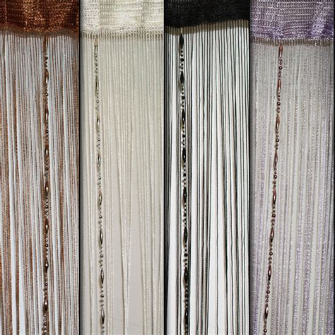 beaded room dividers fringe string panel curtain with silver room divider