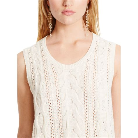 sleeveless cable knit sweater polo ralph cable knit sleeveless sweater in