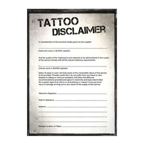 disclaimer pads 100 sheets tattoo aftercare tattoo