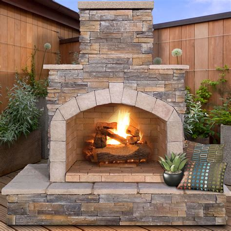 gas outdoor fireplaces pits calflame propane gas outdoor fireplace