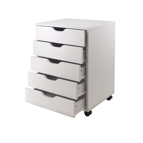 office drawer cabinet winsome halifax cabinet for closet office 5 drawers white kitchen dining