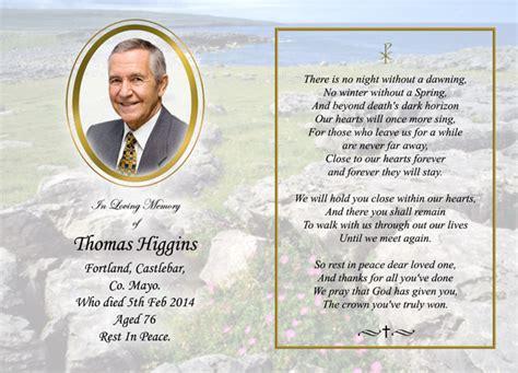 how to make a memorial card memorial cards heverin print castlebar