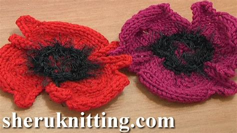how to knit a poppy flower knitting flower patterns tutorial 14 free poppy flower to