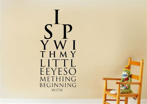 Wall Murals For Bathrooms i spy text quotes wall stickers adhesive wall sticker