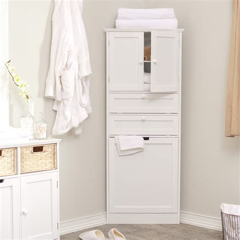 White Bathroom Storage Cabinets by Wood Corner Bathroom Storage Cabinet With Door And