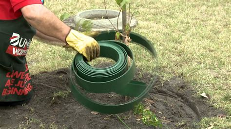 how to install garden edging around a tree diy at