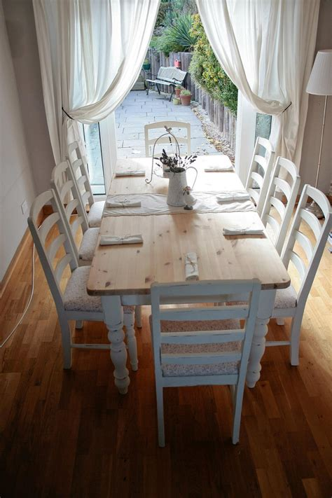shabby chic tables and chairs dining table shabby chic dining table and chairs