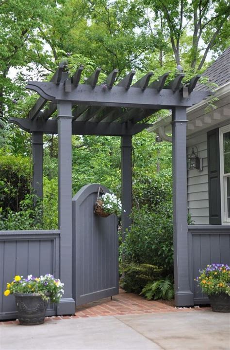 Garden Arbor With Gate Kit Sweet And Spicy Bacon Wrapped Chicken Tenders Pergolas