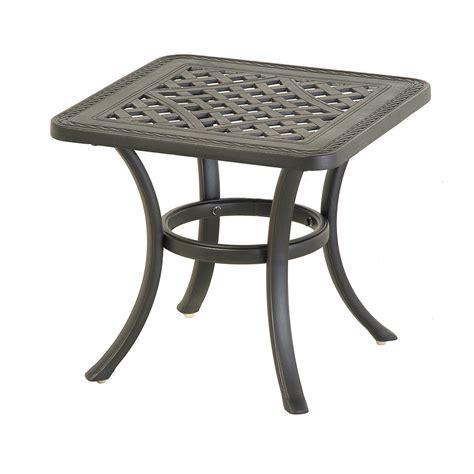 inspiring metal patio side table patio design 386