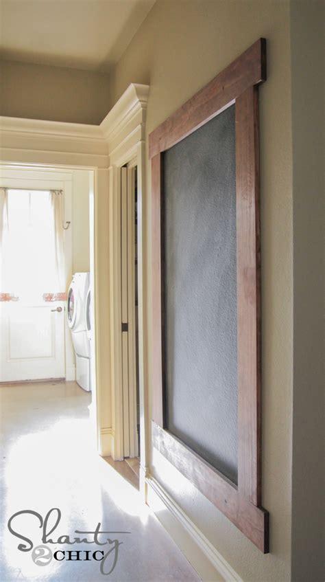 diy chalkboard wall frame diy framed chalkboard wall shanty 2 chic