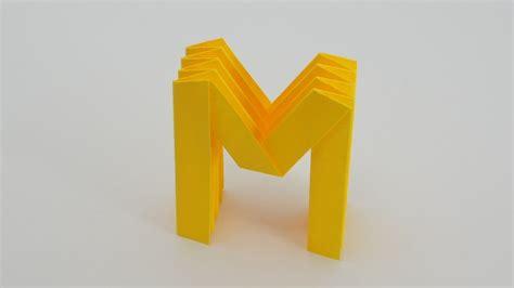 origami letter l origami letter m w