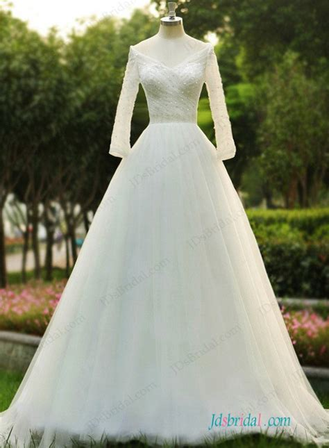 sparkly beaded wedding dresses h1141 sparkly beaded detailed shoulder tulle wedding