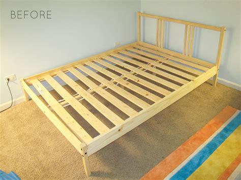 fjellse bed frame ikea hack how to upholster a fjellse bed frame emmerson