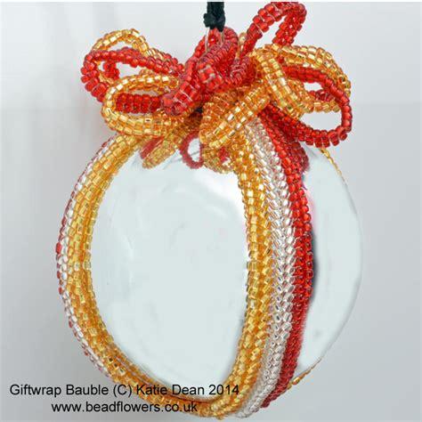 beaded bauble pattern bauble beading pattern dean beadflowers