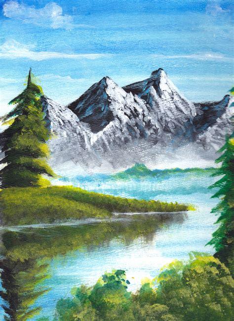 acrylic painting scenery acrylic painting 1 by raikoh illust on deviantart