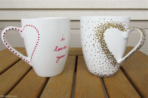 crafts projects diy craft project sharpie mug tutorial bren did