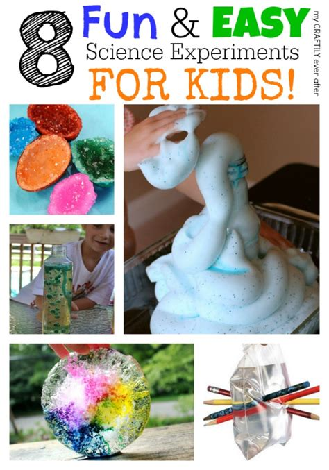 easy science crafts for 8 easy science experiments for my craftily