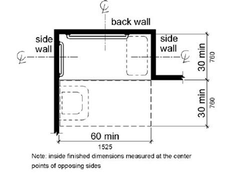 a plan view shows the shower compartment is 30 inches 760