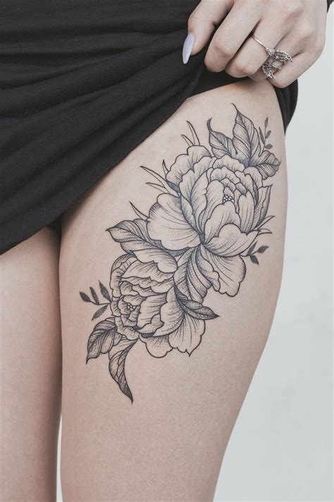 best 25 flower thigh tattoos ideas on pinterest name