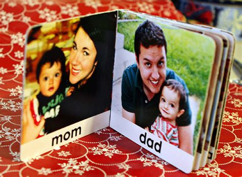baby family picture book things i made family photo board book