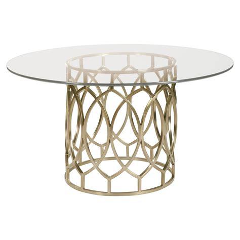 pedestal dining table modern oriana modern classic gold pedestal glass dining table