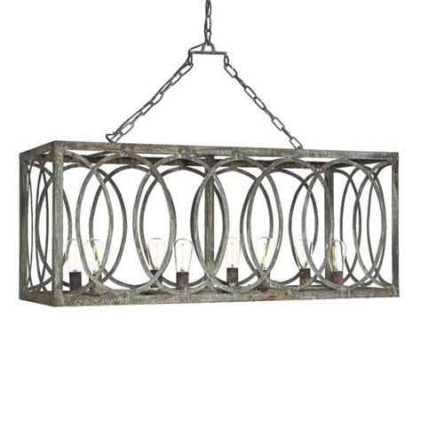 rectangle chandelier iron charles rectangular chandelier 8 light white