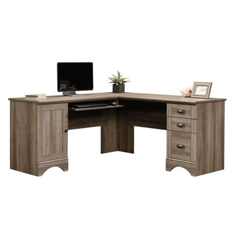 l shaped computer desks l shaped computer desk in salt oak 417586