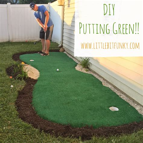 bit funky how to make a backyard putting green