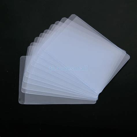 how to make card sleeves 10pcs soft plastic clear credit card sleeves protectors