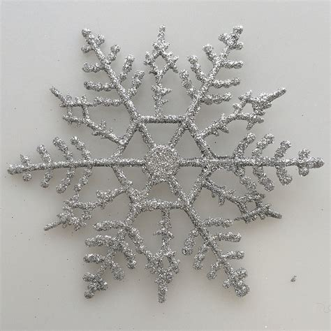 silver glitter snowflake ornaments silver snowflake ornaments at hooked on hallmark ornaments