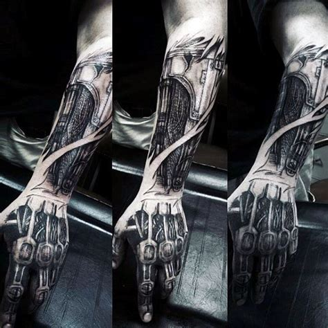 60 terminator tattoo designs for men manly mechanical