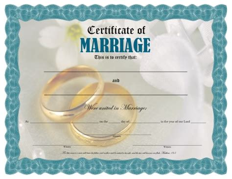 certificate of marriage free printable