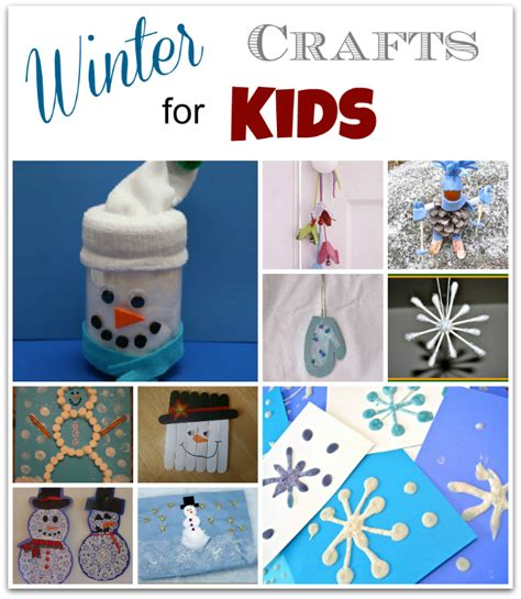 winter craft projects winter themed crafts for