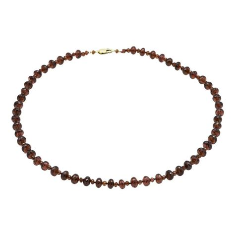 garnet bead necklace faceted garnet bead necklace in gold with two sizes of