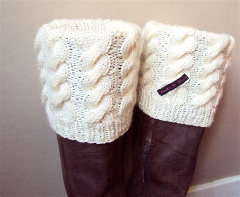 knitting boot cuffs boot cuff boot sock leg warmer knitted in by madeinheda
