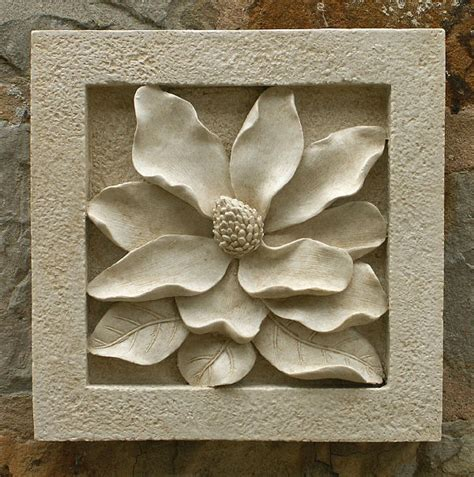garden wall plaques magnolia wall tile garden wall plaques find floral wall