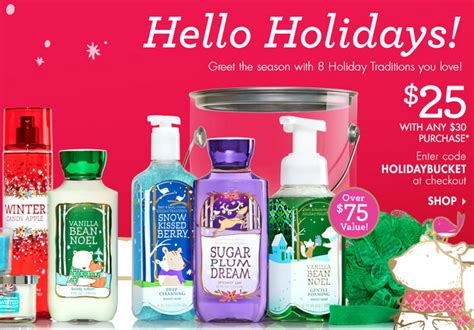 Bath And Body Shower Gel bath amp body works holiday traditions bucket only 25 00