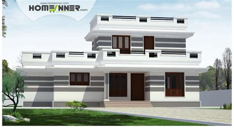 flat home design flat roof 4 bhk single floor low cost home plan