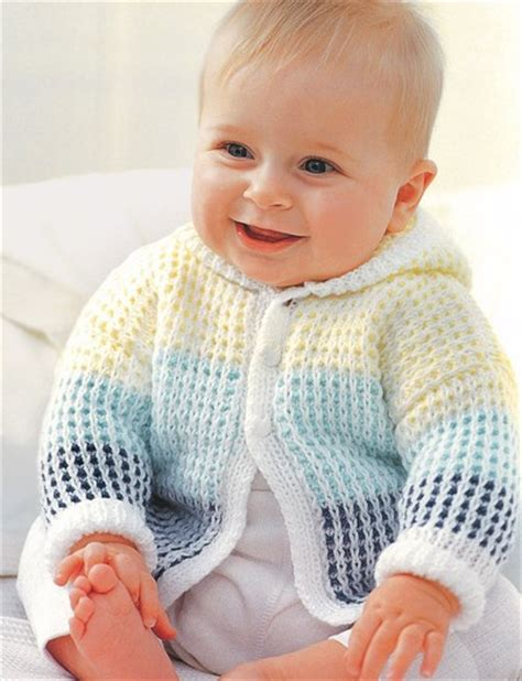 hooded cardigan knitting pattern free morning baby cardigan allfreeknitting