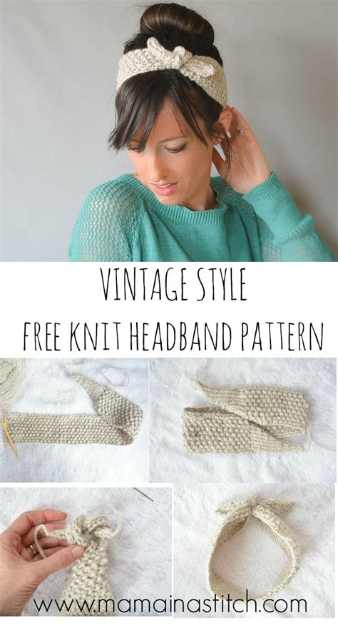 how to knit a headband for beginners step by step vintage knit tie headband pattern in a stitch