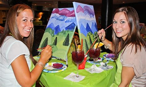 groupon oc paint nite painting event at local bar paint nite groupon