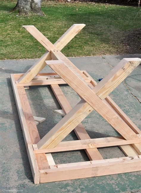 diy patio table plans diy outdoor table free plans cherished bliss
