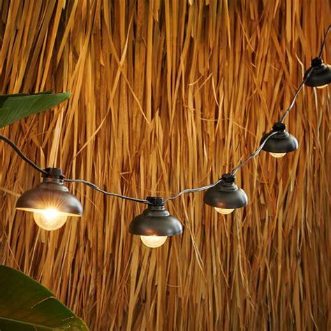 industrial outdoor string lights industrial string lights west elm