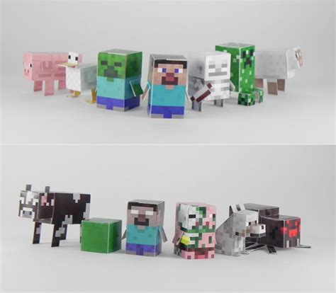 minecraft paper crafts minecraft minis paper crafts gadgetsin