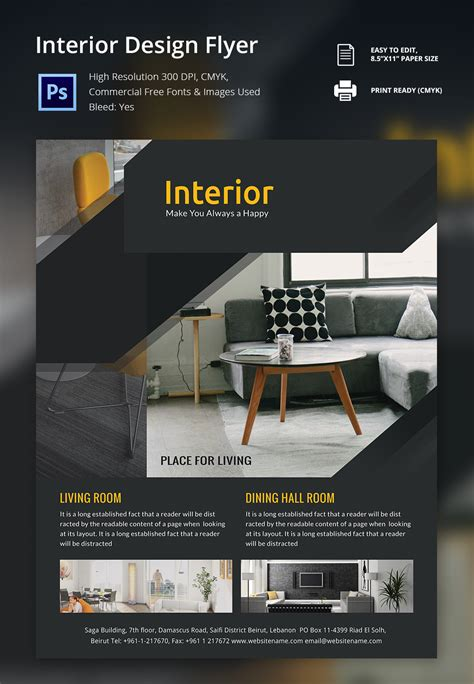 free home interior design interior design brochure 25 free psd eps indesign
