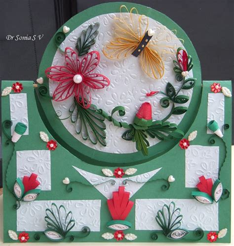 quilling paper craft tutorial paper crafts swinging spinning card tutorial quilled