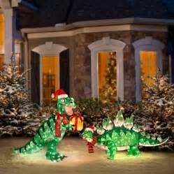 animated outside decorations animated tinsel dinosaur decorations